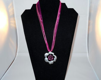 Flower Power Organza Necklace