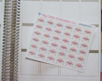DC34 - Remembrances Stickers