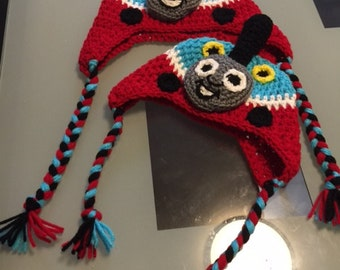 Thomas & Friends Hats - Handmade Crocheted Hats for Newborn to Adult