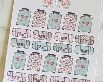 26 Girly Doodle Travel Luggage Stickers