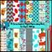 Dr. Seuss Inspired Digital Paper Megapack, 16 12by12 Papers, 300 dpi, Teacher's Digitals, Commercial OK