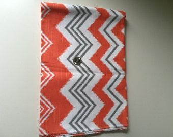 premier prints Zig zag Ikat orange fabric