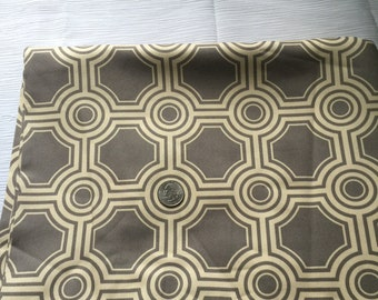 Joel Dewberry Ginseng gray and off white fabric