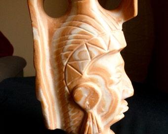Sandstone Mayan Prince Sculpture