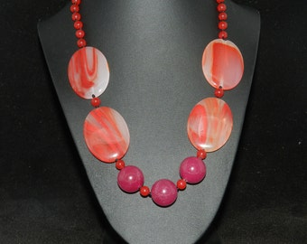 FT569 Jade and Agate  Necklace