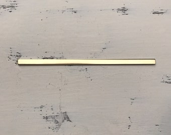 Brass cuff blank 14g 1/4 in wide x 5.75 in smooth