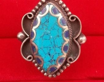 Lapis Turquoise Ring
