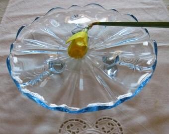 Fostoria Azure Baroque Tid Bit Plate - Item #1227