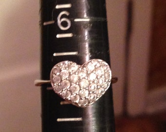 Beautiful sterling silver heart ring