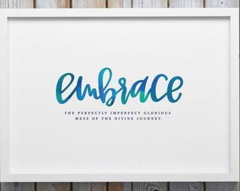 Watercolor 'Embrace' Print