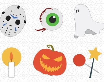 Halloween Decal Collection, SVG, DXF, EPS Vector files for use with Cricut or Silhouette Vinyl Cutting Machines