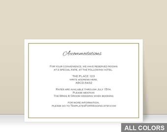 accommodation cards etsy. Black Bedroom Furniture Sets. Home Design Ideas