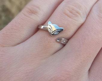 Fox Ring - Statement Ring - Stacking Ring - Valentines Day Gift - Love Fox Ring - Animal Ring