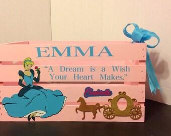 Cinderella Toy/Storage Crate