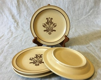 Vintage Pfaltzgraff Village Salad Plates, Set of 4