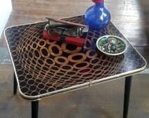 Mid-century Op Art Side Table