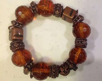 Amber & Copper Bracelet