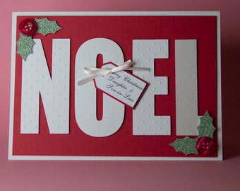 Noel Handmade Christmas Card