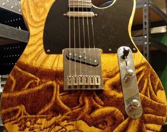 Custom Art Telecaster Shaped Electric Guitar