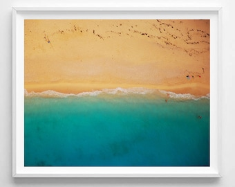 Beach print, Beach art, Summer, Nature, Modern art, Wall decor, Digital art, Printable, Digital poster Instant Download 8x10, 11x14, 16x20