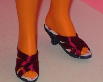Tiffany Taylor shoes BURGUNDY SHOES  Magic Hair Crissy doll Clothing & Accessories, doll shoes, high heel shoes
