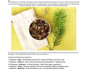 Immunity Tea Recipe PDF - Cold, Flu, and Allergy Relief Tea DIY