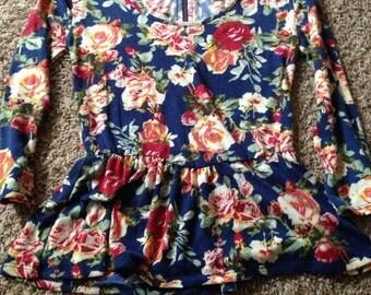 Floral Quarter Sleeve Top