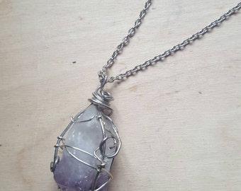 Amethyst Wrapped Necklace