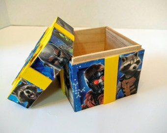 Guardians Of The Galaxy Wood Gift Box / Geek Gift