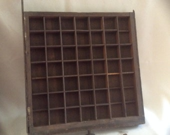 Old Wooden Printer's Type Drawer/Tray