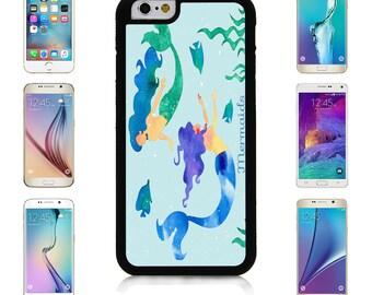 Swimming Mermaids Cover Case for Apple iPhone 7 7 Plus 6 6S Plus Samsung Galaxy S7 Edge S6 Plus Note 5 6 7 8 9 10 att sprint verizon