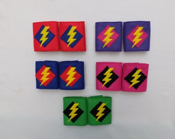 Superhero Lightning Bolt Cuffs
