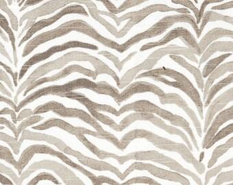 Tailored Valance Serengeti Bisque Gray Animal Print