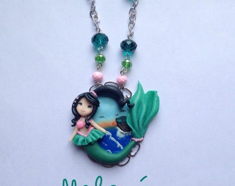 Com cameo necklace Little Mermaid