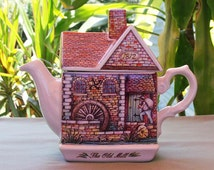 Vintage 1992 Sadler Teapot - The Old Mill - English Country Crafts Series
