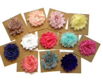 Kids Party Favours / Beautiful Flower Hair Clips / Set of 12 Non Slip Clips / Perfect for Party Favours