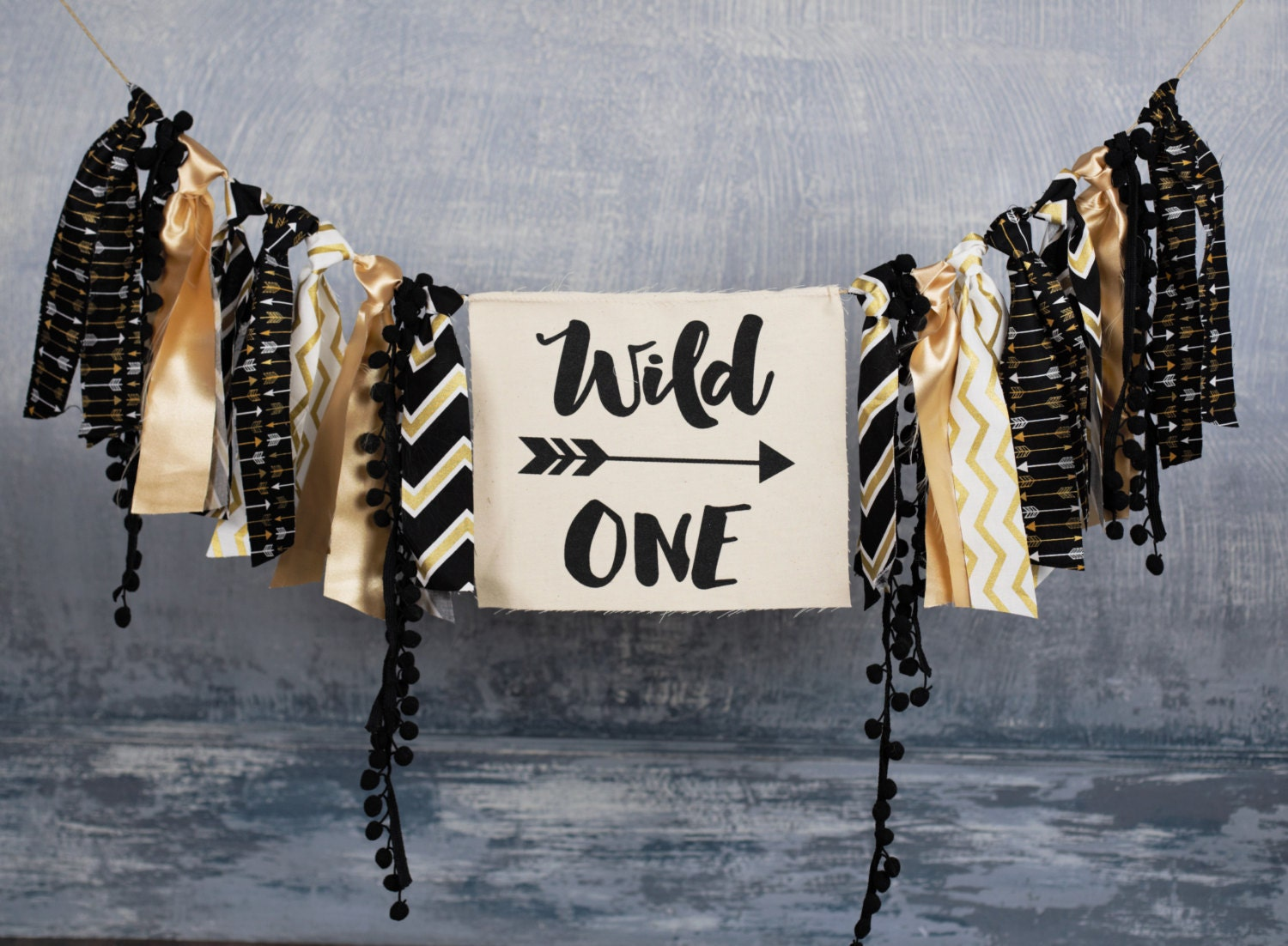 wild one birthday banner any saying any color theme aztec