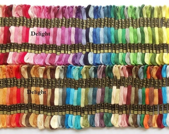 "Anchor Embroidery Thread/Floss / Skeins in 100 Different Beautiful Colors ""SET- 1"""