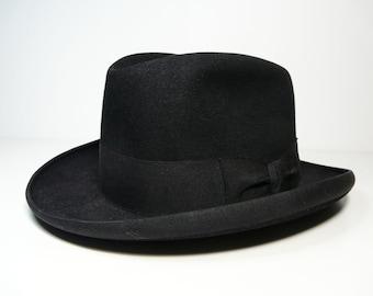 Vintage elegant italian Barbisio fedora, men's hat, Borsalino type, Mid-century