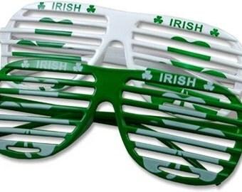 St Patricks Day Glasses, Party Sunglasses, St Pats Glasses, St Patricks Shutter Shades, Irish Sunglasses, Irish Shades, Shutter Shades Decal