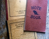 Trio of vintage blank school notebooks