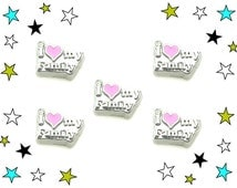 I Love My Family Floating Charm Love Charm Floating Charms for Lockets Floating Living Memory Owl Lockets Floating Locket Charm Jewelry CH57
