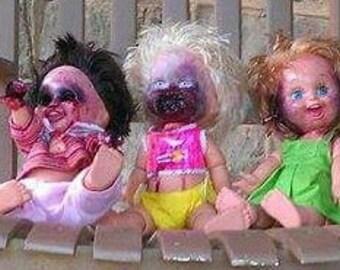 see no evil,  hear no evil,  speak no evil custom baby dolls