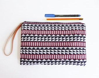 Tribal zipper pouch,Coin Purse,clutch,pencil bag,pencil case,Makeup Bags,Cosmetic Bags,Back to School
