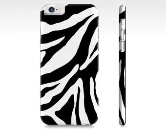 Zebra iPhone 6 Case - Black and White Zebra iPhone 5 Case - Animal Print iPhone 6 Case - Safari iPhone Case - The Mad Case