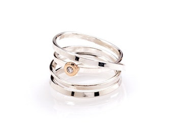 Demi - Sterling Silver & Diamond Ring