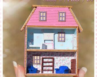 1:144 DIY Dollhouse miniature laser cut house kit / DIY dollhouse/ dollhouse kit/ miniature kit/ DI FS435