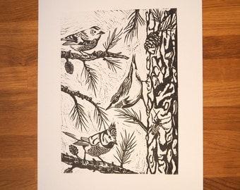 Forest blockprint