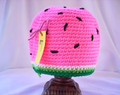 Child Crochet Hat: Watermelon Hat / Pink Girl's Hat