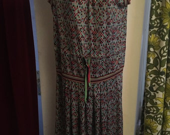 Vintage drop waisted dress